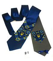 Мужской атласный галстук с вышивкой «Щек»
