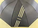 Темно - синий зонт с выворотным механизмом сложения  10 спиц  унисекс, фото 4