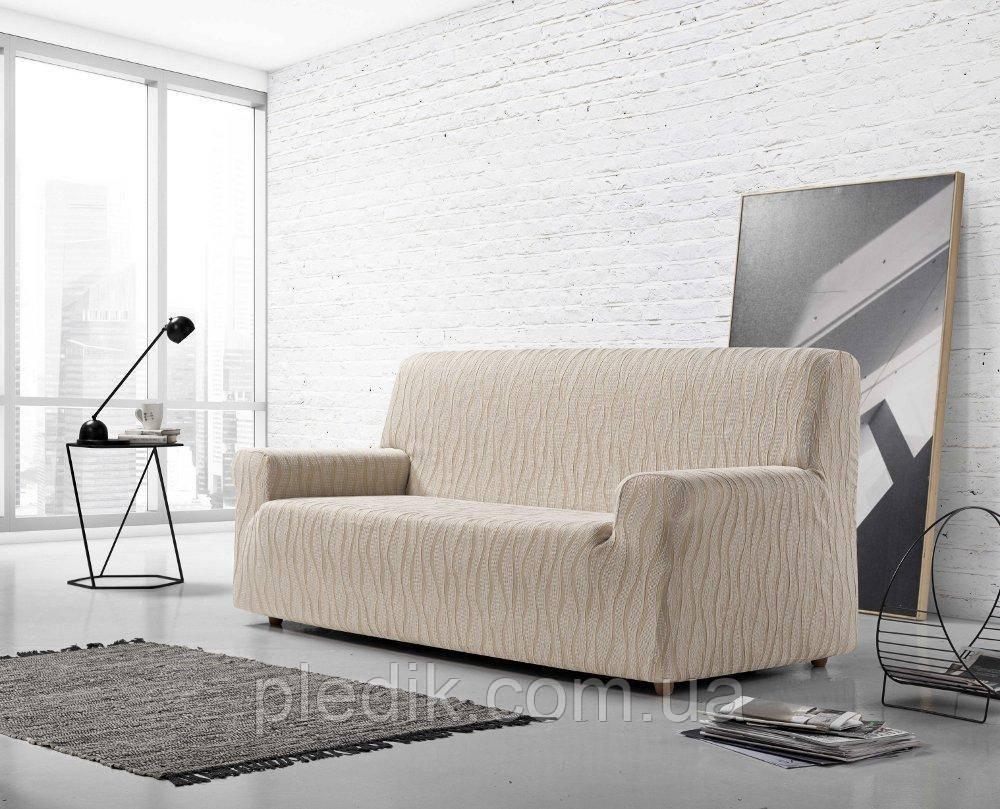 Чехол на диван натяжной 3-4х местный Испания Zebra Textile Andromeda linen Андромеда лен