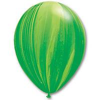 """Латексный шар 11"""" супер Агат зеленый"""