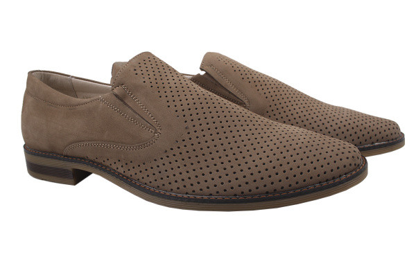 Туфли мужские классические Mida натуральный нубук, цвет бежевый