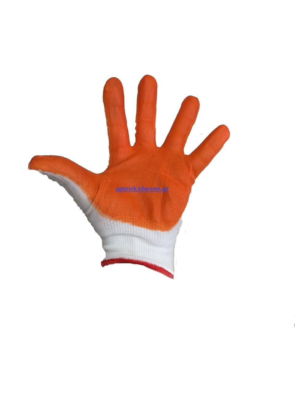 Перчатки рабочие вампир, оранжевые (дачные) 1 сорт Хорошего качества