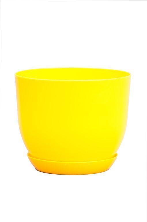 Горшок классик для растений Желтый 16 см