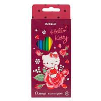 Карандаши цветные Kite Hello Kitty HK19-051, 12 цветов
