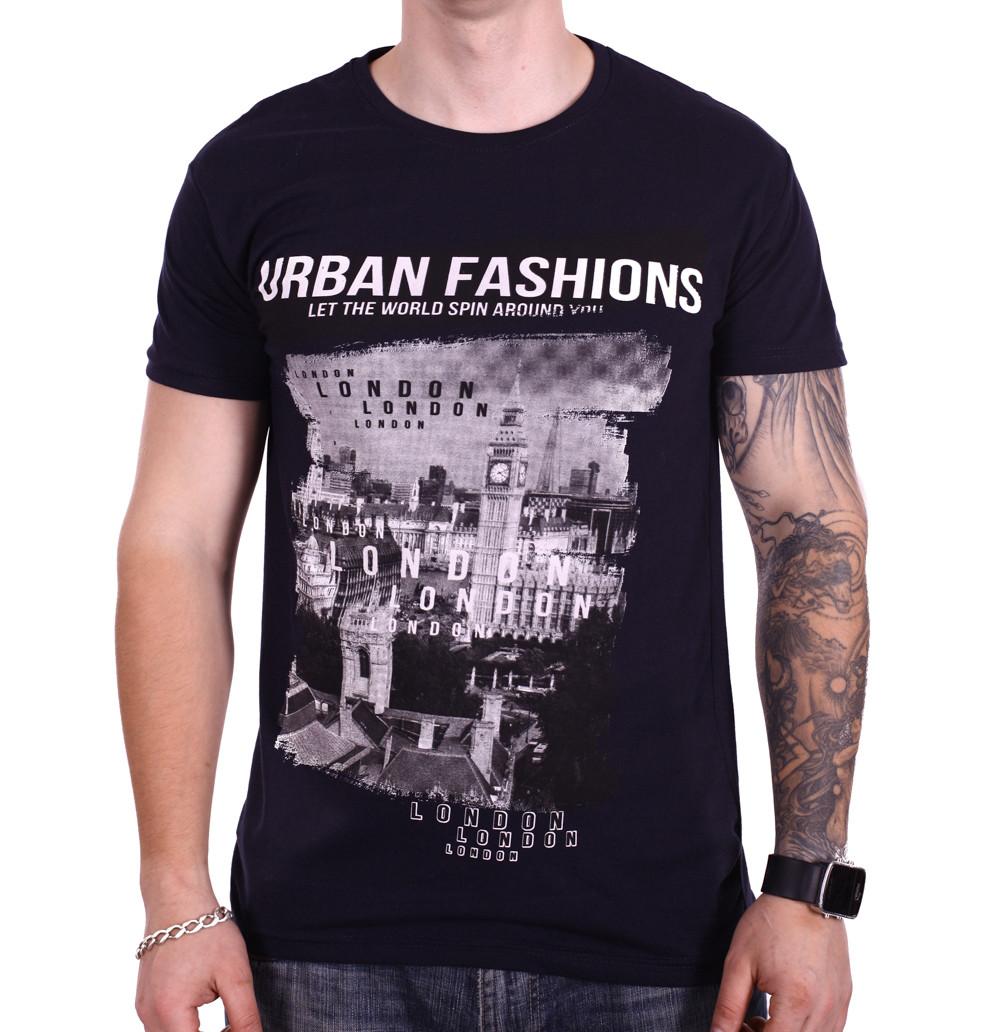 Футболка Rixon Urban Fashion 1814/1 Темно-синяя L