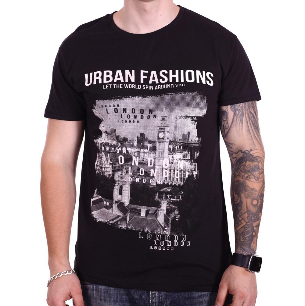 Футболка Rixon Urban Fashion 1814/2 Черная XXL