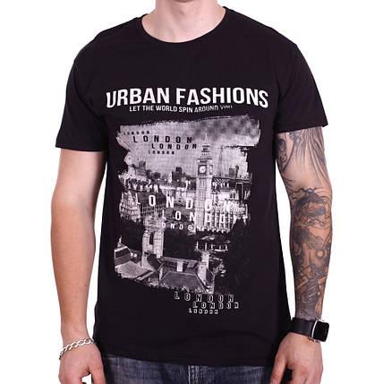 Футболка Rixon Urban Fashion 1814/2 Черная XXL, фото 2