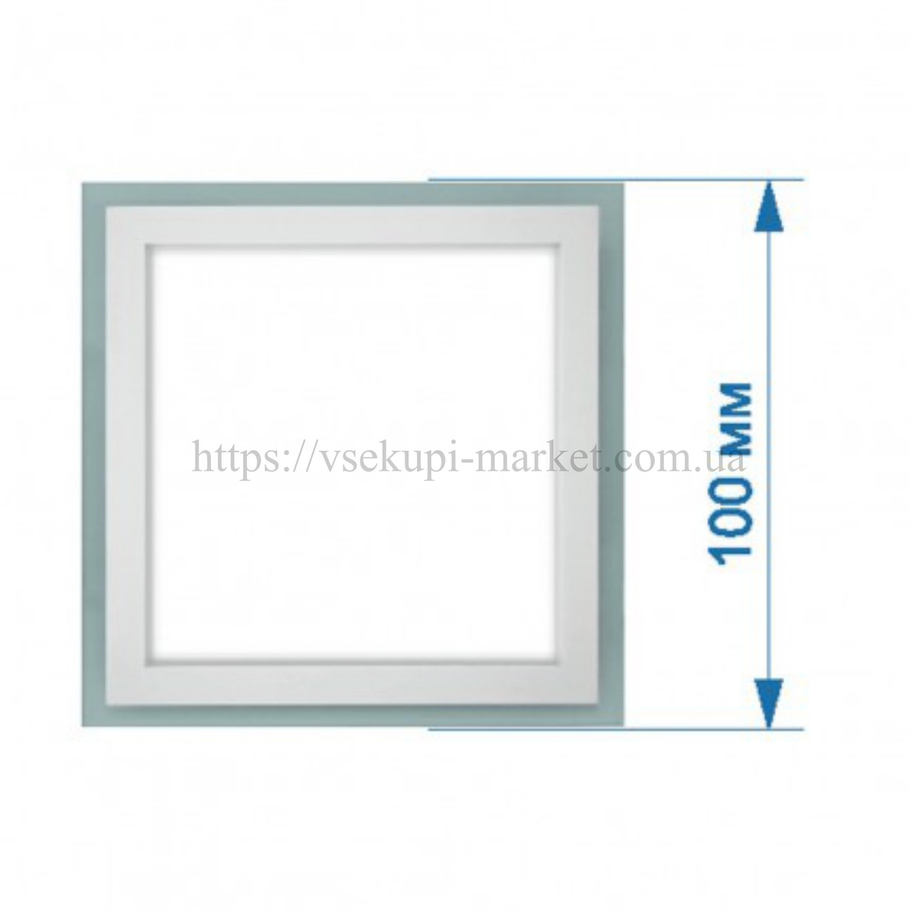Светильник LED PANEL RIGHT HAUSEN квадрат GLASS (Стеклянный) 6W 4000K HN-233010