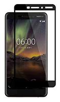 Защитное стекло для Nokia 6 Dual, 0.25 mm, 3D Full Glue, цвет черный