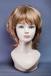 Натуральный парик №11, Цвет мелирование русый с блондом