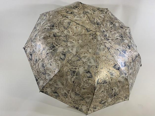 """Складной женский зонт полуавтомат с тефлоновой пропиткой купола """"антиветер"""" 9 спиц"""