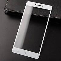 Защитное стекло для Xiaomi Redmi Note 4X Full Glue (0.3 мм, 2.5D, с олеофобным покрытием), цвет белый