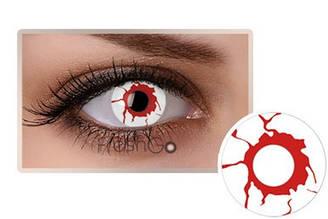 Линзы контактные брызги крови + контейнер в ПОДАРОК