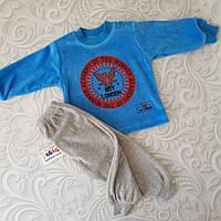 Велюровый костюм для новорожденных, фото 1
