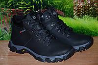 Ботинки мужские  из натуральной кожи  зимние  тёплые мна меху Ecco