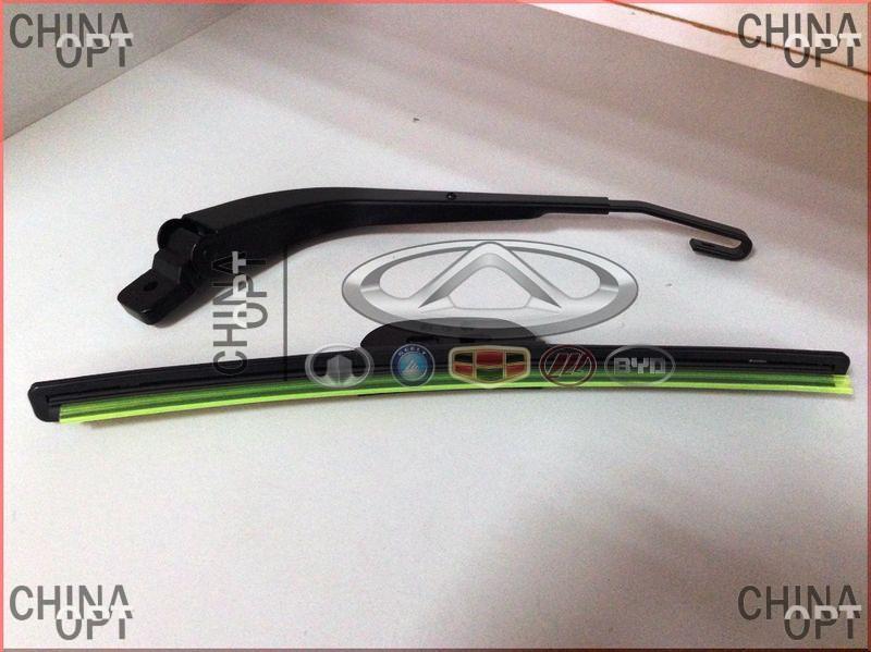 Поводок / рычаг стеклоочистителя, задний, c щеткой, Geely MK Cross, 1017002088, Original parts