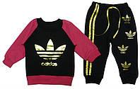 Костюм (кофта, штаны) для ребёнка/девочка 80% хлопок, 20% полиэстер Черный no brand все размеры  1 год