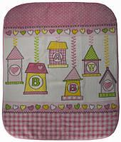 Плед для ребёнка/ 100% полиэстер Розовый Ganix все размеры  100*120см