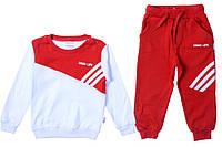 Яркий и очень стильный спортивный костюм для девочки 8 лет (128 см). Цвет красный с белым. Бренд Comix.