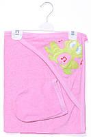 Яркое и милое полотенце для девочки 100% хлопок (70*90 см). Цвет розовый. Бренд StoryBaby.