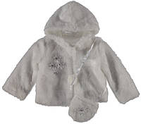 Куртка для ребёнка/девочка 100% полиэстер Белый Sedefino все размеры  1год