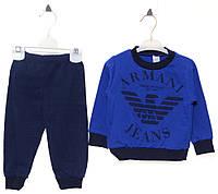 Костюм (кофта, штаны) для ребёнка/ 100% хлопок Синий Idol все размеры  2 год