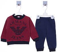 Костюм (кофта, штаны) для ребёнка/ 100% хлопок бордовый Idol все размеры  2 год