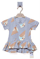 Платье для ребёнка/девочка - серый MOI NOI все размеры  0-3 мес (56-62 см)