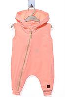 Комбинезон для ребёнка/ 100% хлопок персиковый MOI NOI все размеры  9-12 мес (74-80 см)