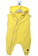 Комбинезон для ребёнка/ 100% хлопок жёлтый MOI NOI все размеры  6-9 мес (68-74 см)