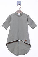Платье для ребёнка/девочка 95 % хлопок, 5% эластан хаки MOI NOI все размеры  3-6 мес (62-68 см)