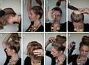 Валики (бублики) для волос диаметр 11 см бежевые 12 шт/уп., фото 3