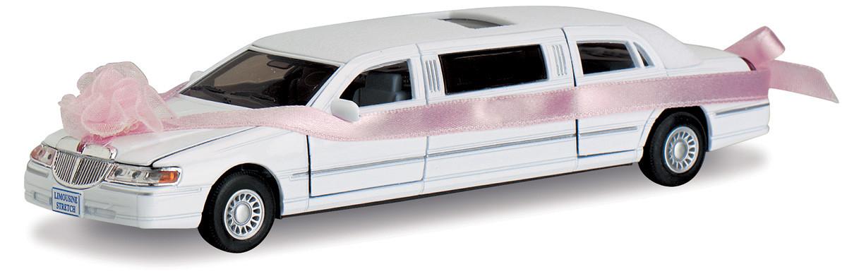 Автомодель металлическая 1:38 Лимузин Lincoln Свадебный KT7001WW Kinsmart