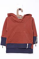 Кофта для ребёнка/мальчик 100% хлопок Коричневый MOI NOI все размеры  24-36 мес (92-98 см)