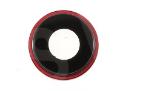 Стекло камеры для iPhone XR, красное + кольцо