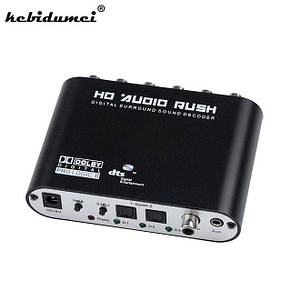 Конвертер аудио оптический оптика на 5+1 RCA в аналог звук декодер DTS, фото 2