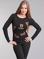 Кофта женская Фенди черная