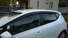 Дефлекторы окон (ветровики) KIA Ceed, 12-, 4ч. темный, фото 3