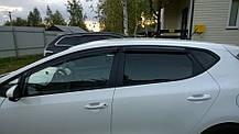 Дефлекторы окон (ветровики) KIA Ceed, 12-, 4ч. темный, фото 2
