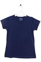 Стильная футболка для девочки 5 лет (110 см). Состав 95% хлопок, 5% эластан. Цвет синий. Бренд CHN.