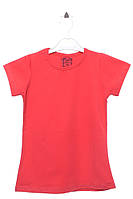 Яркая футболка для девочки 16 лет (176 см). Состав 95% хлопок, 5% эластан. Цвет красный. Бренд CHN.