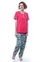 Пижама Женский 92% хлопок, 8% эластан фуксии Chiser все размеры  L