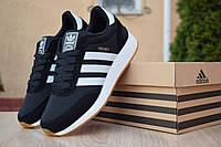 Кроссовки мужские в стиле Adidas Iniki черные с белым