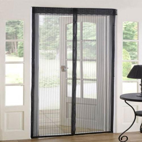 Антимоскитная штора Magic Mesh на магнитах для дверей 210х100 см Сетка от насекомых на дверь