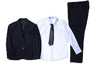 Костюм (пиджак, брюки, рубашка, галстук) для ребёнка/мальчик 40% висказа, 35% полиэстер, 25% хлопка черний JNF все размеры  6 лет (116 см)