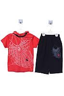 Костюм (футболка, шорты) для ребёнка/мальчик 100%хлопок Красный Gigas все размеры  6 лет (116 см)