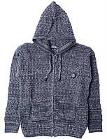 Кофта для ребёнка/мальчик 100% акрил серый Milas все размеры  13-14 лет