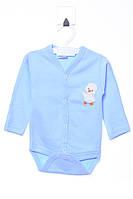 Милый боди для мальчика 0-3мес (56см-62см). Есть нашивка. Состав 100% хлопок. Цвет голубой. Бренд Poyraz baby.