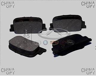 Колодки тормозные задние, дисковые, Lifan 620 [Solano], BYDF3-3502160, Polbrake