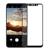 Защитное стекло для Xiaomi Redmi Note 6 Pro Full Glue (0.3 мм, 2.5D, с олеофобным покрытием), цвет черный